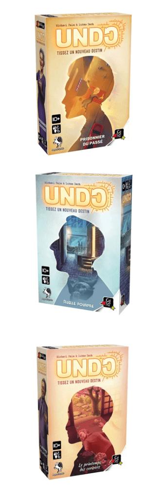 Les trois premiers scénarios d'Undo