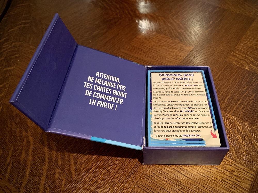 Contenu d'une boîte d'Héroï'cartes