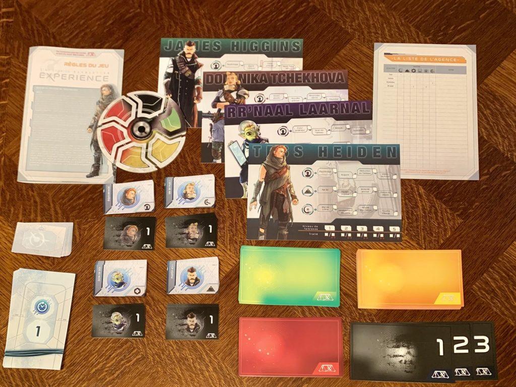 Tout le matériel inclus dans la boîte