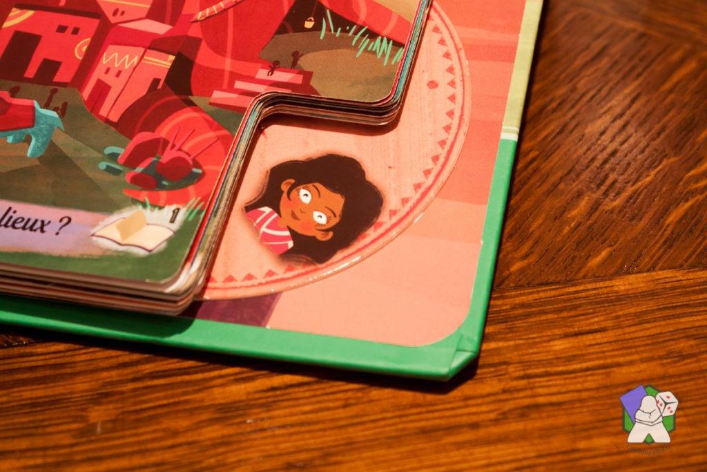 La roue de sélection du personnage dans les livres Ma Première Aventure