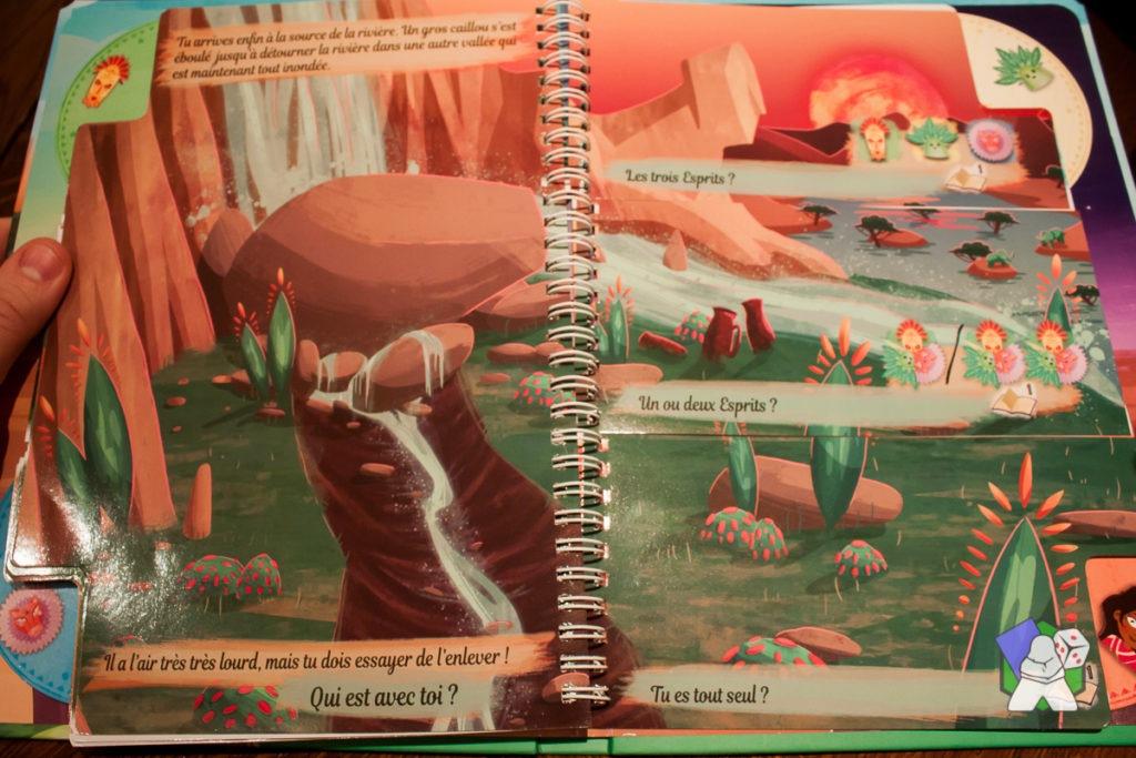 Ma Première Aventure - Voyage en Terre Ocre : présentation du livre et des pages découpées
