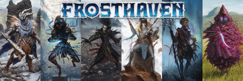 Les 6 personnages de départ de Frosthaven