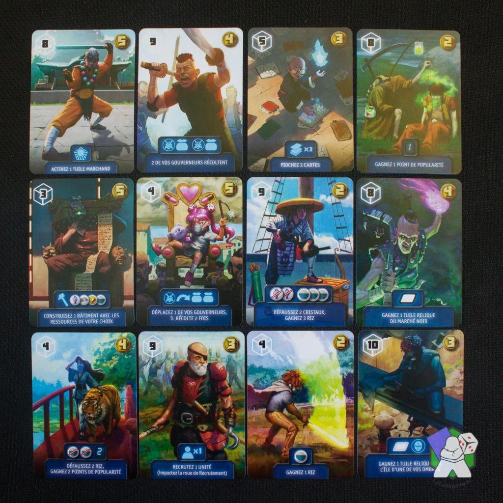 Quelques cartes Héros de Daomyo disponibles à l'achat