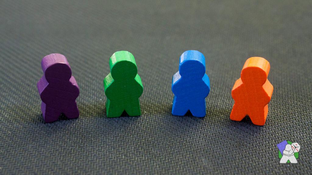 Les 4 couleurs des Clans de Daimyo : - En violet, le Clan des Nobles - En vert, le Clan de la Nature - En bleu le Clan Techno - En orange, le Clan Nomade
