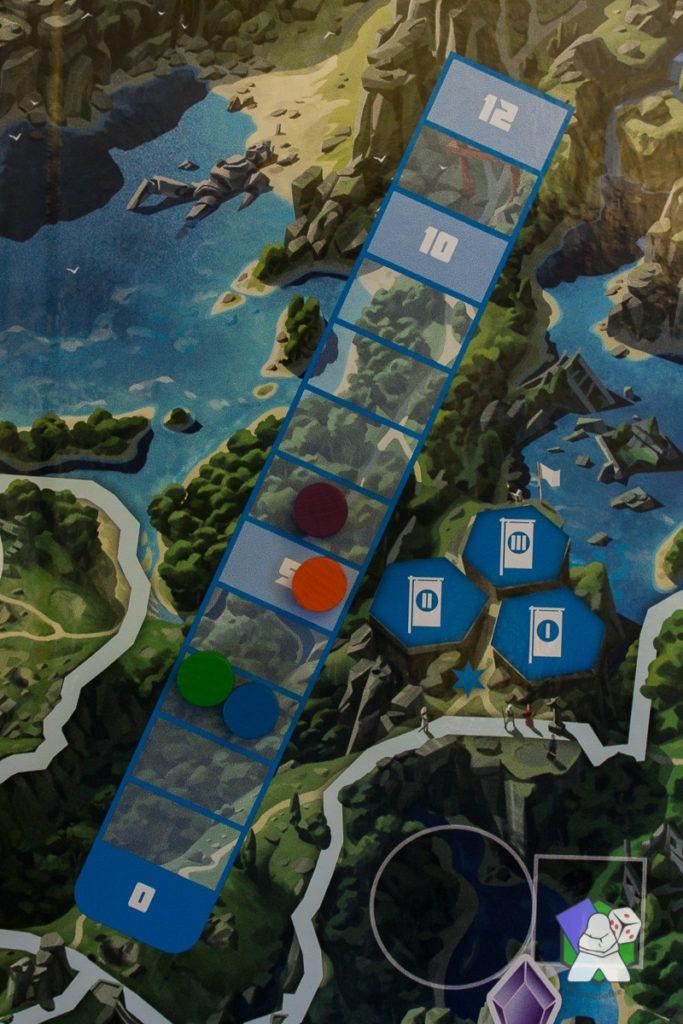 La piste d'Influence de l'île bleue
