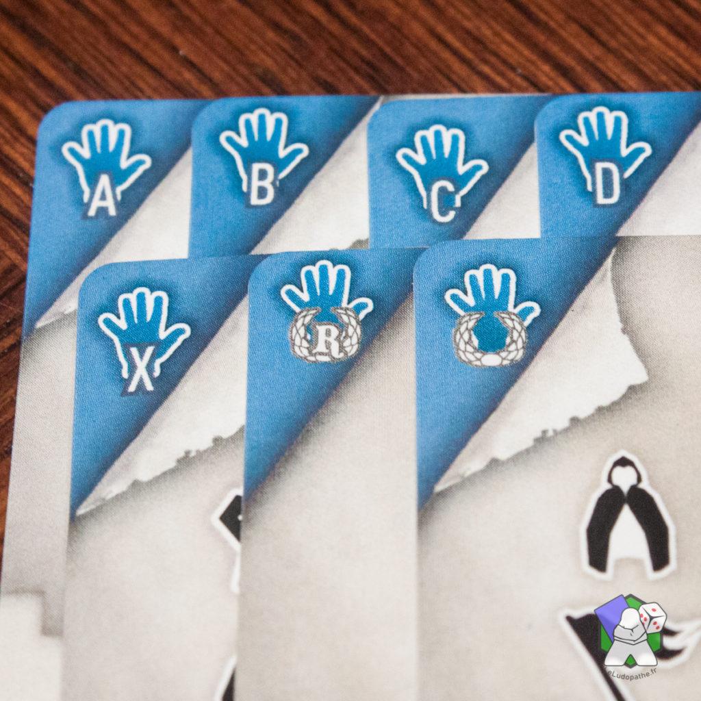 Les différentes icônes des cartes Compétences