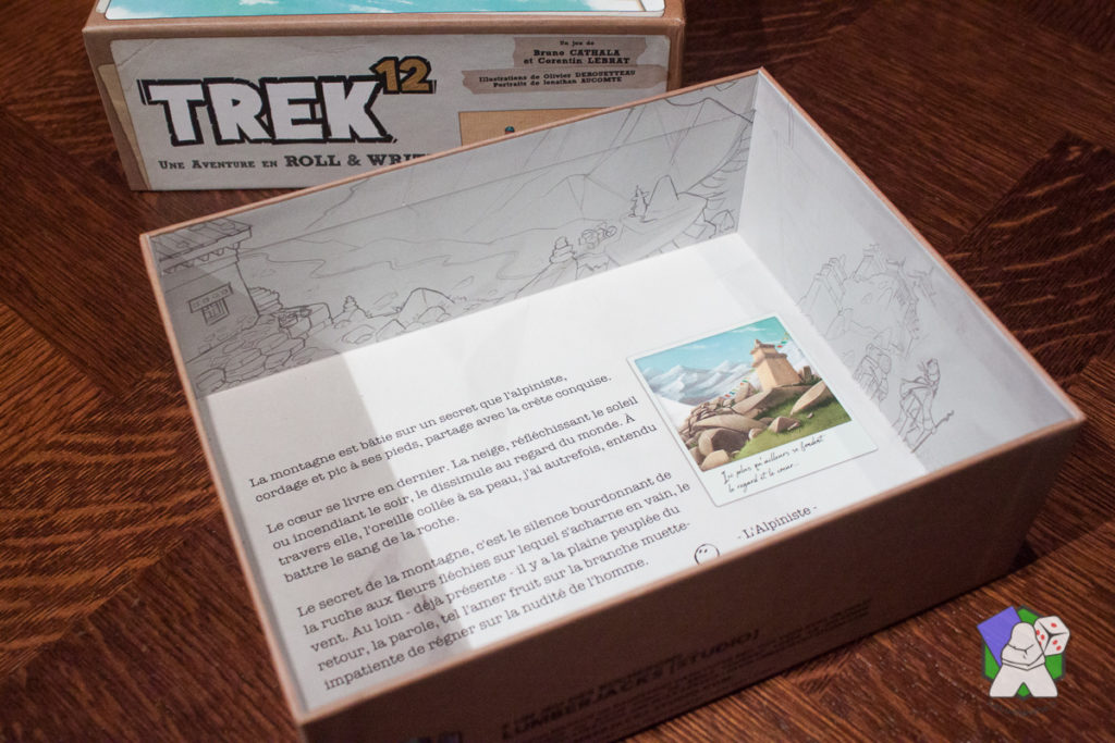 Le fond de boîte de Trek 12 est très bien illustré