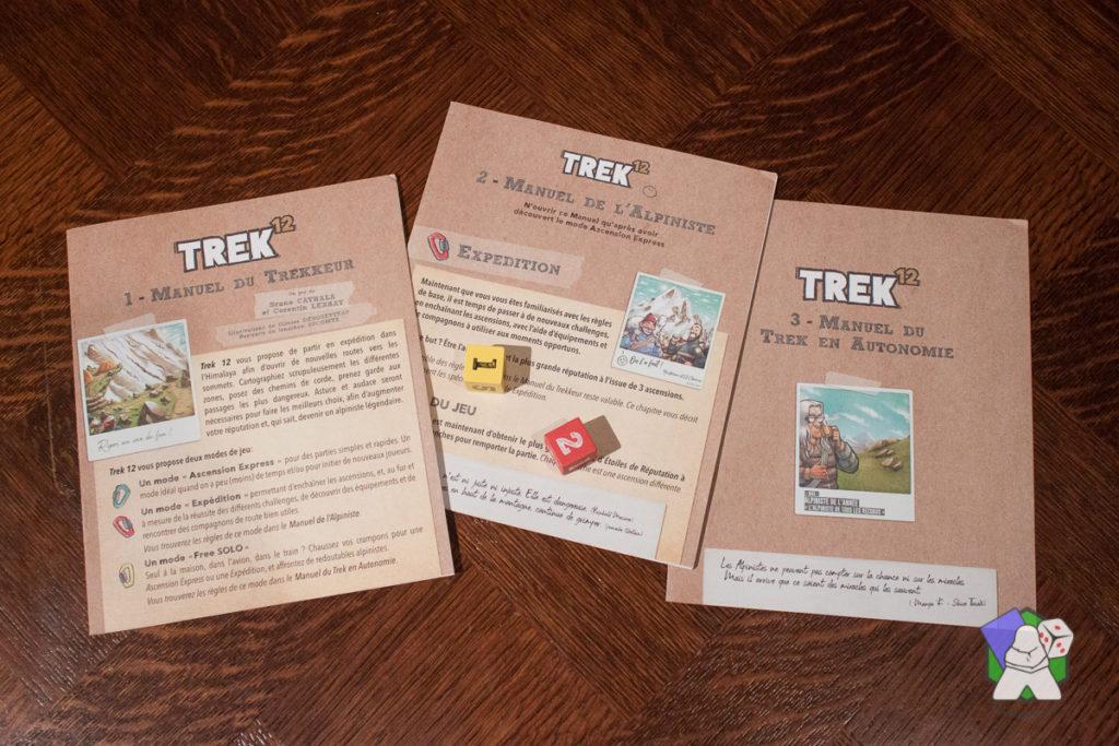 Les 3 livrets de règles de Trek 12