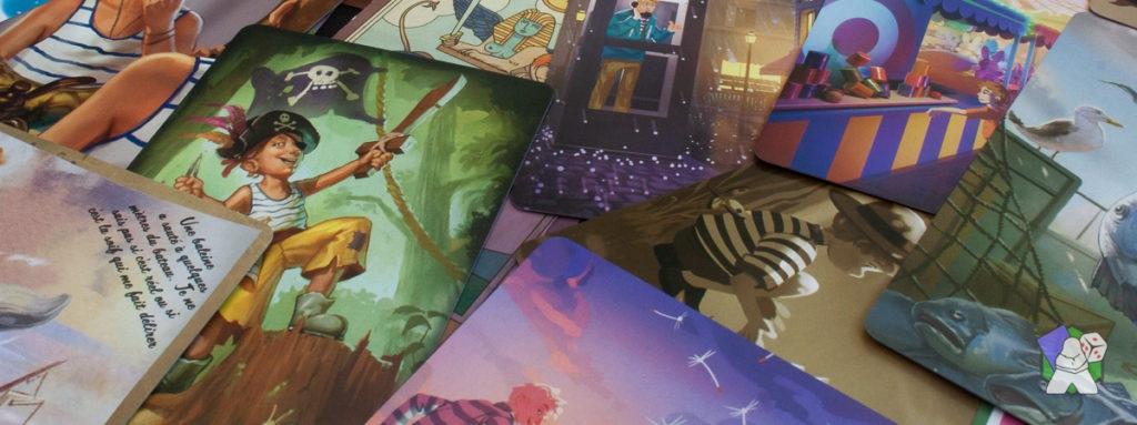 Les cartes de souvenir, élément central dans Au Creux de ta Main