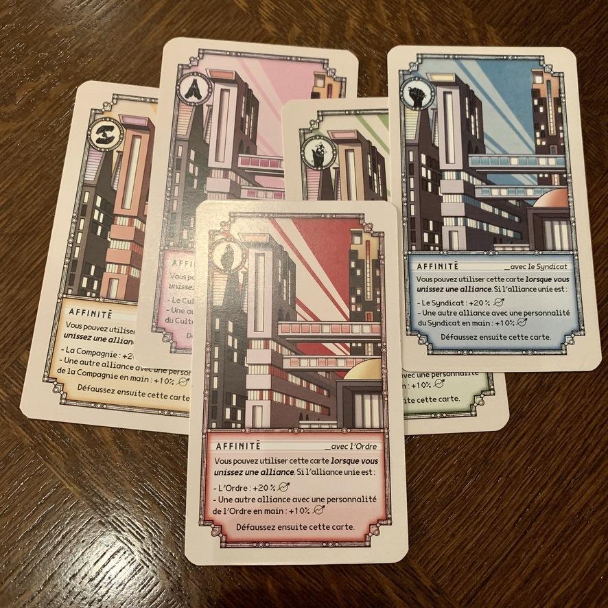 Les cartes d'Affinité